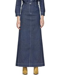 Levi's - Ssense Exclusive Indigo Work Skirt - Lyst