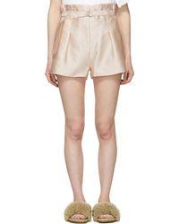 3.1 Phillip Lim - Pink Satin Origami Shorts - Lyst