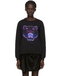 KENZO - Black Limited Edition Holiday Tiger Sweatshirt - Lyst