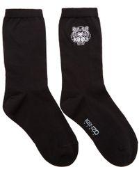 KENZO - Black Tiger Socks - Lyst