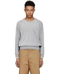 3.1 Phillip Lim | Grey And Blue Classic Velour Sweatshirt | Lyst