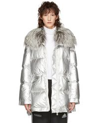 Army by Yves Salomon - Silver Ultra Light Down Puffer Jacket - Lyst