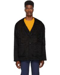 Our Legacy - Black Mohair Cardigan - Lyst