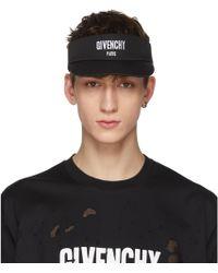 Givenchy   Black Paris Logo Visor   Lyst