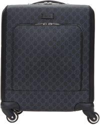 Gucci - 'GG Supreme' Canvas Suitcase - Lyst