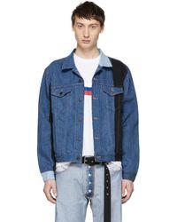 Gosha Rubchinskiy - Navy Levis Edition Patchwork Jacket - Lyst