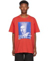 Off-White c/o Virgil Abloh - Red Business Casual Bernini T-shirt - Lyst
