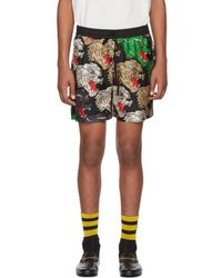 Gucci - Multicolor Silk Panther Face Shorts - Lyst
