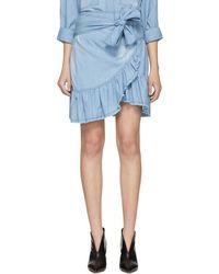 Étoile Isabel Marant - Blue Lindy Miniskirt - Lyst