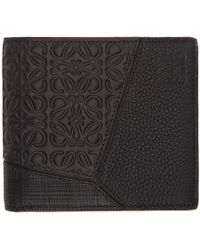 Loewe - Black Puzzle Bifold Wallet - Lyst