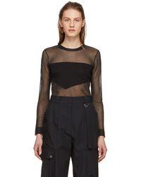 Neil Barrett - Black Graphic Transparent Knit Pullover - Lyst