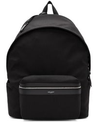 Saint Laurent - Black Giant Canvas City Backpack - Lyst