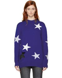 Givenchy - Blue Oversized Stars Sweater - Lyst