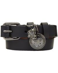 Alexander McQueen - Black Skull Wide Double Wrap Bracelet - Lyst