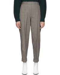 3.1 Phillip Lim - Black Houndstooth Tapered Trousers - Lyst
