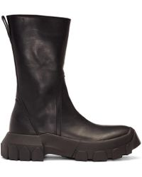 Rick Owens - Black Tractor Boots - Lyst