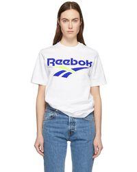 Reebok - T-shirt blanc CL V - Lyst