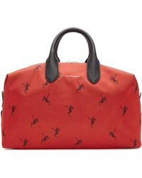 Alexander McQueen | Red Medium Holdall Duffle Bag | Lyst