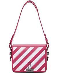 Off-White c/o Virgil Abloh - Pink Diagonal Flap Bag - Lyst