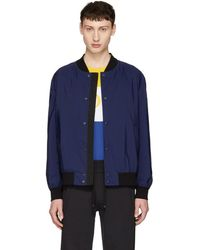 HUGO - Navy Boris 1831 Bomber Jacket - Lyst