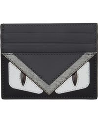 Fendi | Black Bag Bugs Card Holder | Lyst