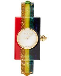 Gucci - Multicolor Rainbow Plexiglass Watch - Lyst