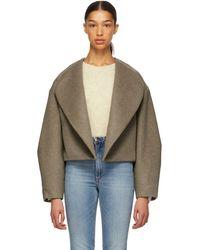 Totême  - Taupe Wool Bellac Jacket - Lyst