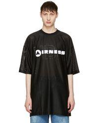 Hood By Air - Black 'airness' T-shirt - Lyst