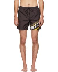 Fendi - Black Mania Tech Swim Shorts - Lyst
