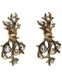 Lanvin - Gold Branch Earrings - Lyst