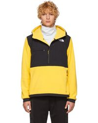 The North Face - Yellow And Black Denali Anorak Jacket - Lyst