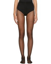 Wolford - Black Individual 10 Back Seam Tights - Lyst