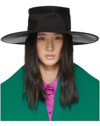 Marc Jacobs - Black Large Boater Hat - Lyst