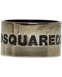 DSquared² - Silver Rodeo Boy Ring - Lyst