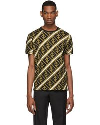 Fendi - Brown And Black All Over Forever T-shirt - Lyst