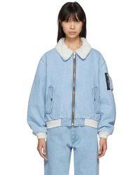 Gosha Rubchinskiy - Blue Faux-shearling Denim Jacket - Lyst