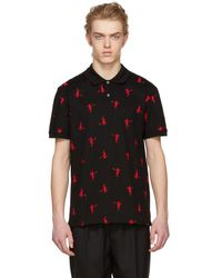 Alexander McQueen - Black All Over Dancing Skeleton Polo - Lyst