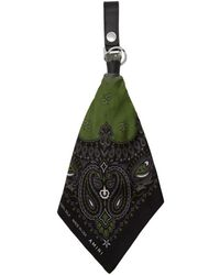 Amiri - Black And Green Bandana Keychain - Lyst