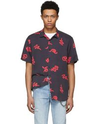 Ksubi - Black And Red Neon Snake Shirt - Lyst