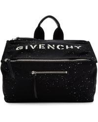 Givenchy - Black Stencil Pandora Messenger Bag - Lyst