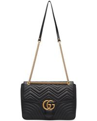 d8a5c34c5aeb Gucci Black Gg Marmont 2.0 Belt Bag in Black - Lyst