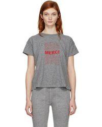 Rag & Bone - Grey Vintage Merci T-shirt - Lyst