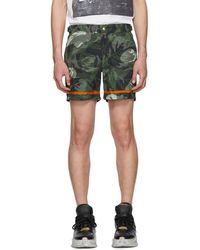 Alexander McQueen - Green And Orange Camo Rose Swim Shorts - Lyst