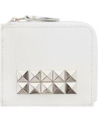Comme des Garçons - White Leather Studded Wallet - Lyst