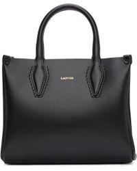 Lanvin - Black Mini Shopper Tote - Lyst