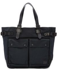Belstaff - Black Canvas Tote Bag - Lyst
