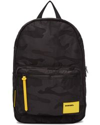 DIESEL - Black Camo F-discover Backpack - Lyst