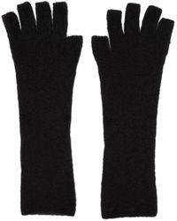 Isabel Benenato - Black Knit Gloves - Lyst