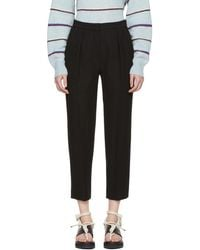 See By Chloé - Black Fluid Trousers - Lyst