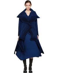 Issey Miyake - Blue Polygon Coat - Lyst